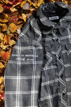 Load image into Gallery viewer, STJ Flannel Light Grey/White Size L