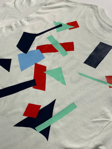 Collage Tee size M red/mint/blue