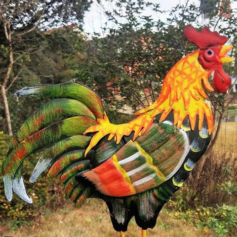130cm Colorful Cock Decorative Weather Vanes Iron Wind Speed Spinner Direction Lawn Yard Decoration Garden Ornaments