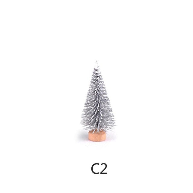 1pc Christmas Tree Micro Landscape Eco Bottle Decoration DIY Christmas Resin Crafts Garden Miniatures