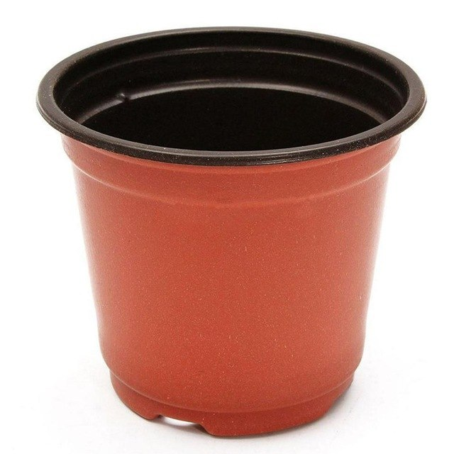 20PCS Nursery Flower Pot PP Double Color FlowerPot Garden Soft Plastic Unbreakable Pots