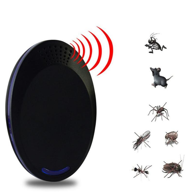 2PCS/Pack Ultrasonic Electronic Frequency Inverter Pest Controller Rat Mosquito Cockroach Repellent Controller