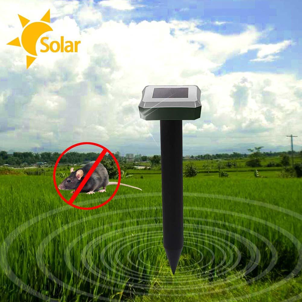 3pcs Garden Useful Solar Power Pest Repellers Eco-Friendly Ultrasonic Gopher Mole Snake Mouse Pest Reject Repeller Control
