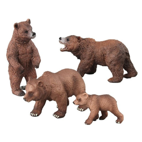 4/5 PCS Per Set Emulational Standing Brown Black Bear Animal Model Wild Animal Toy Model Action Figure Home Garden Decoration