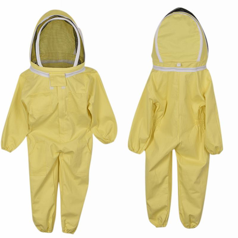 Anti-Bee Suit Cotton Children's Jumpsuit Yellow Space Suit Camouflage Clothing Cap 120-130cm