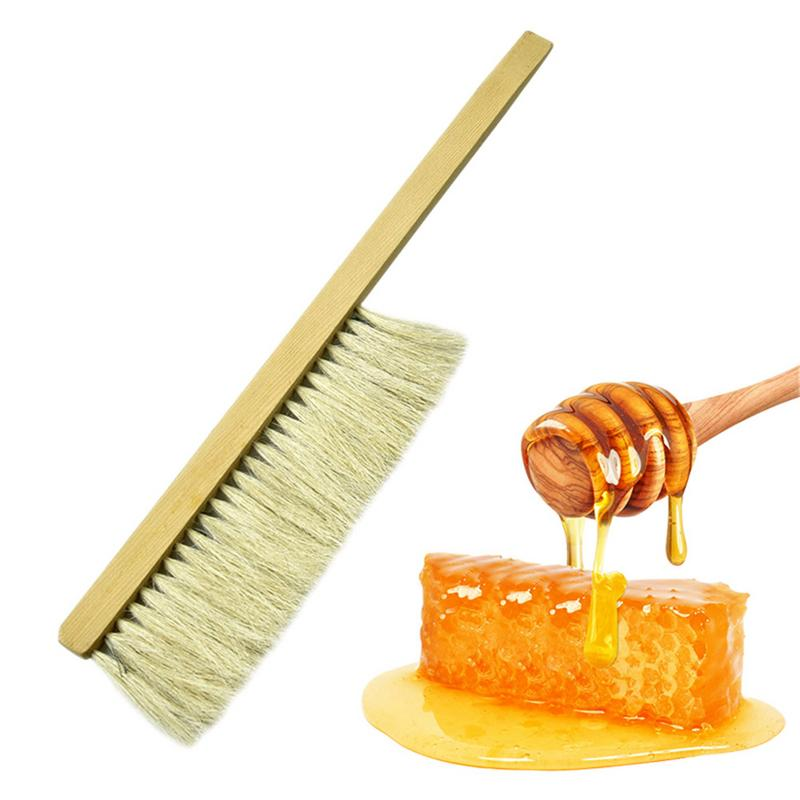 Beekeeping Brush Tools Wood Bee Sweep Brush Two Rows Pig's Bristles Bee Equipment Brush For Beekeepers Tools Bee Keeping