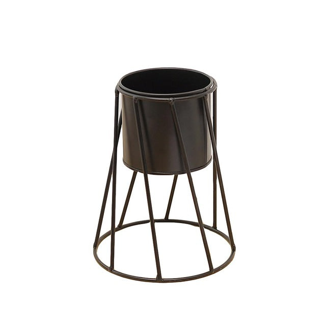 Creative Office Home Decorations Zakka Wrought Iron Fleshy Flower Pots Desktop Potted Combination Metal Barrel Ornaments
