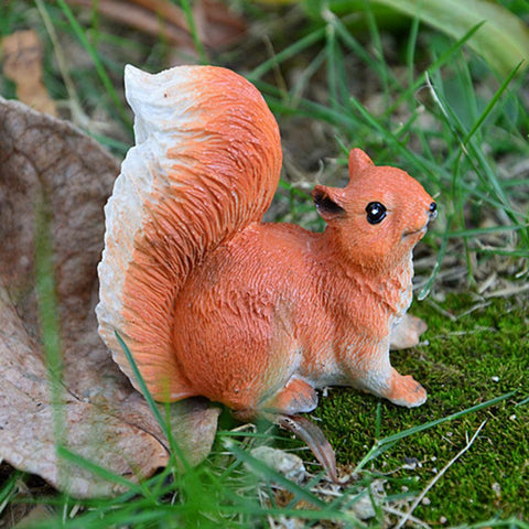 Cute Lifelike Squirrels Simulated Gardening Micro-Landscape Mini Simulated Squirrel Small Ornament