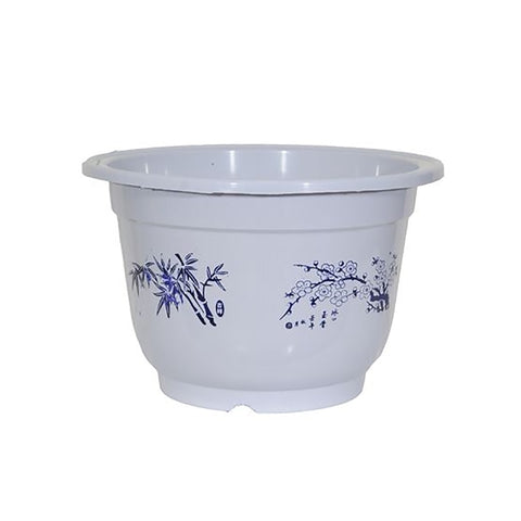 Desktop Chinese style Small Flower Pots simulation blue and white porcelain plastic flower pot Special Home Decoration