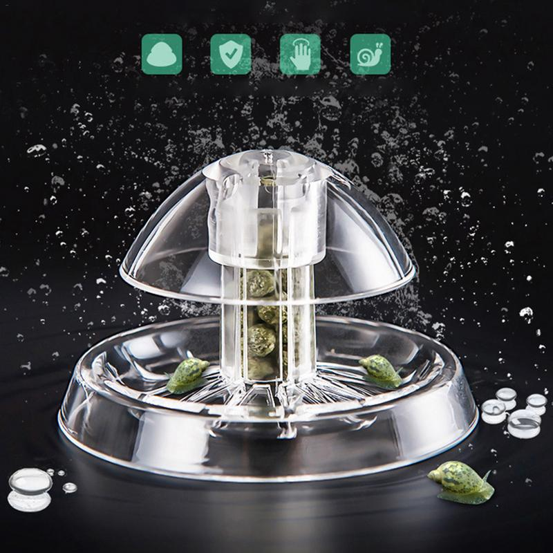 Fish Plant Tank Plastic Clear Snail Trap Catcher Plants Pest Catch Box Bee Shrimp Clean Tool Feeding Box
