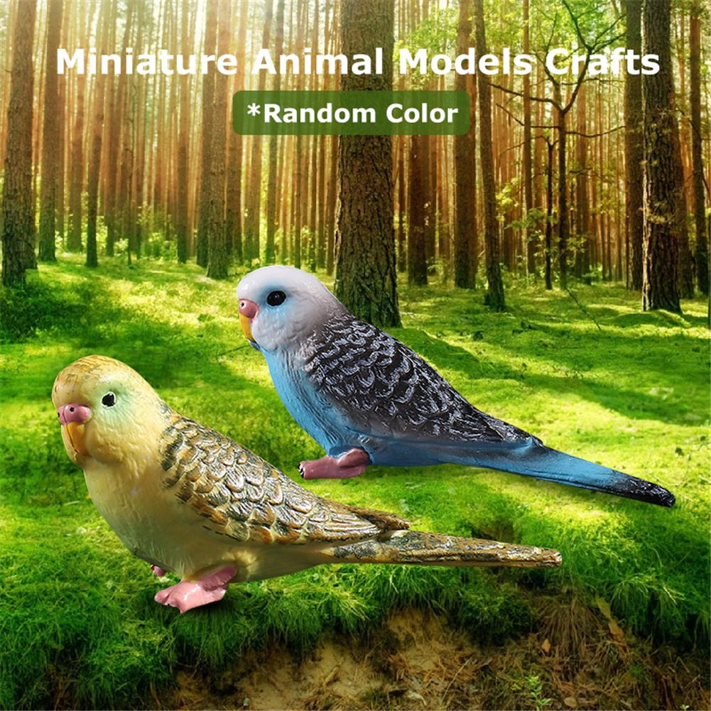 Garden Emulational Forest Parrot Image Miniature Animal Models Craft Bird Statue Plastic Craftwork Decoration Random Delivery