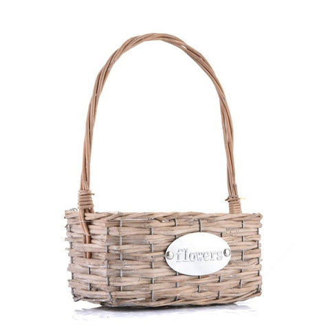 Hand-woven Woven Wicker Basket Flowerpot Flower Baskets Green Plant Flower Pots Home Garden Decoration