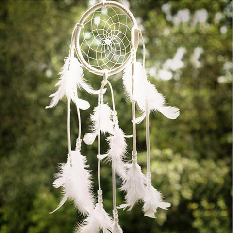 Handmade Ornaments Wind Chimes Feather Signal Catchers for Gifts Wedding Home Decorations