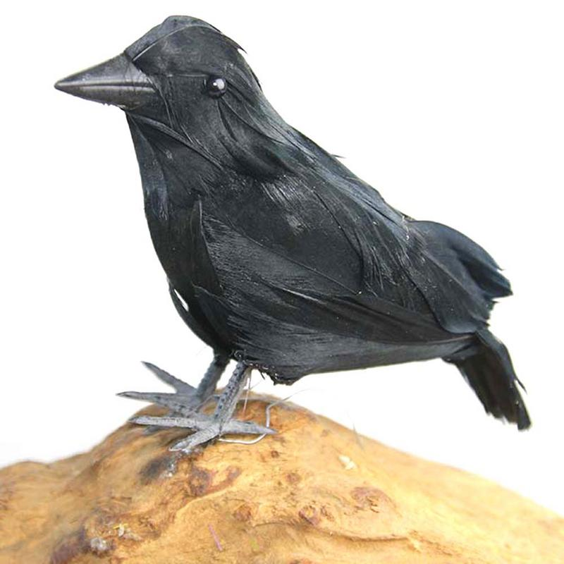 High-End Simulated Crow Props Halloween Decoration Farm Garden Bird Repellent Ornaments black Halloween crow decoration