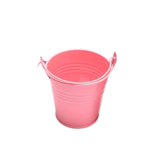 Mini Metal Bucket Candy Box Buckets Wedding Party Souvenirs Gift Pails Tinplate Chocolate Box Flower Pot
