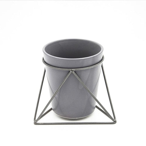 Nordic Wind Succulent Flower Pot High-grade Gray Pottery Desktop Flowers Vase For Garden Decor