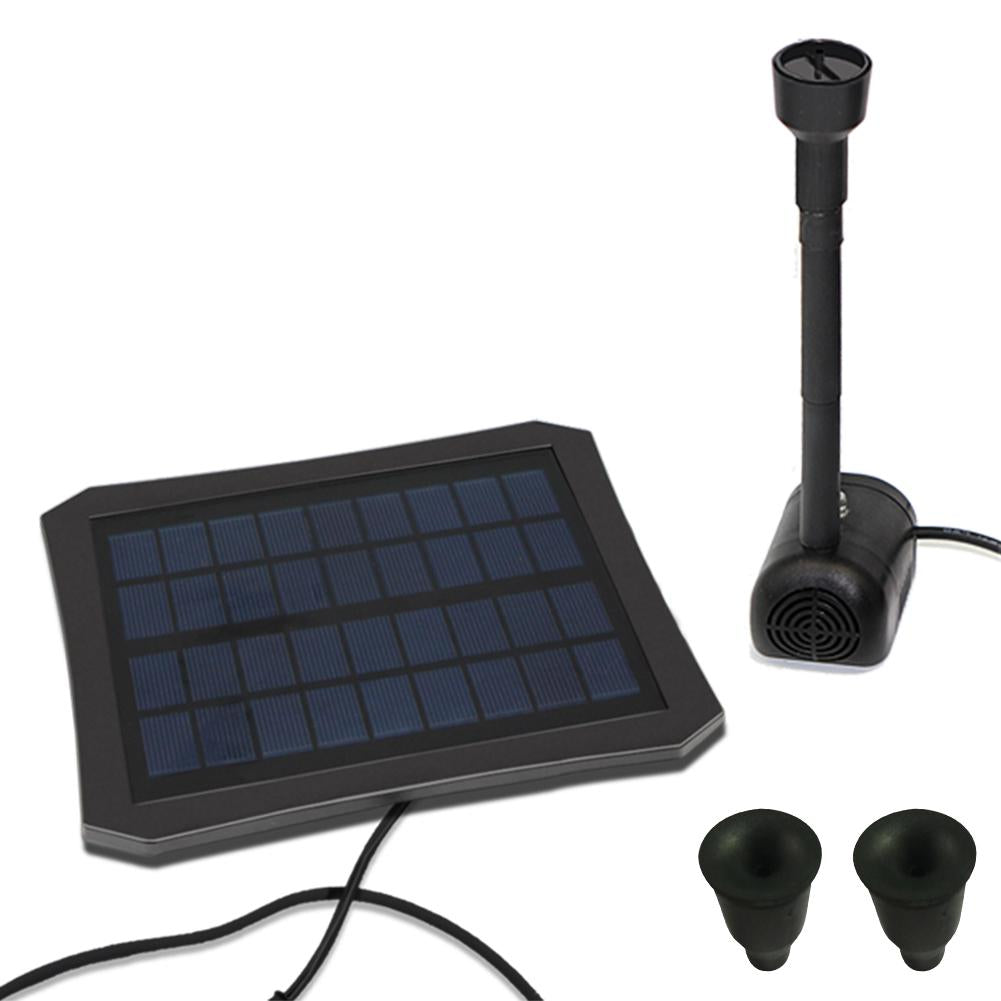 RC-608 Colorful LED Solar Power Water Fountain Garden Plant Watering Kit for Fountains Waterfalls