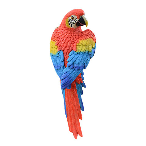 Resin Realistic Modeling Artificial Parrot Micro Landscape Garden Patio Decorative Wedding Decoration Handicrafts