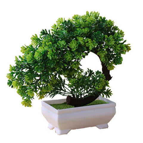 Simulation Crescent Lotus Plant Potted Table Top Ornaments Simulation Bonsai Craft Green Plant Decorative Plastic Flower