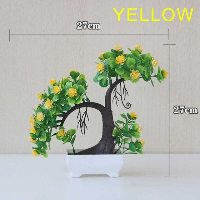 Simulation Lover Flower Set Artificial Flower Potted Plastic Flower Table Top Innovative Green Small Potted Plant Ornaments