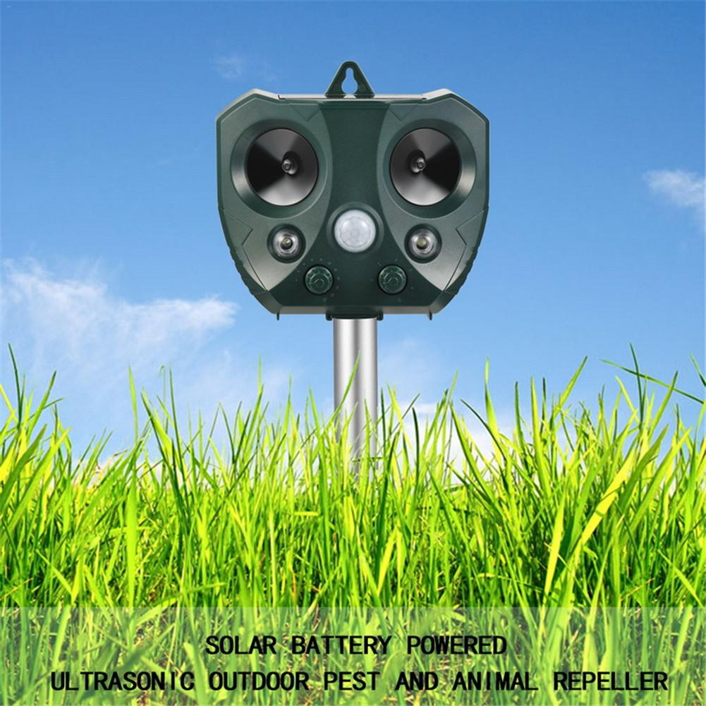 Solar Ultrasound Infrared Sound Adjustable Strobe Extinguisher Environmentally Friendly Garden Driver Pest Reject