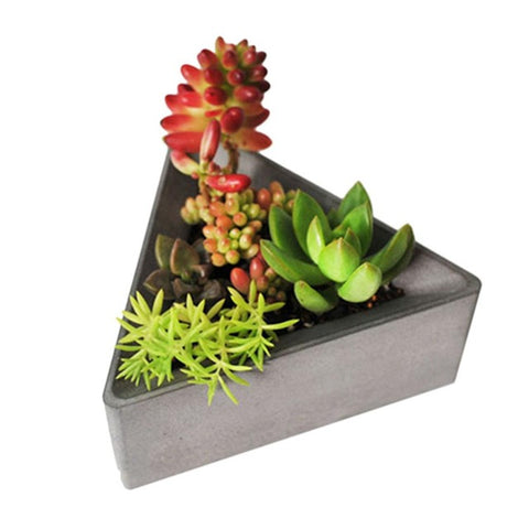 Triangle Silicone Molds Concrete Molds Flower Multi Succulents Plants Cement Planter Mold Home Decorate