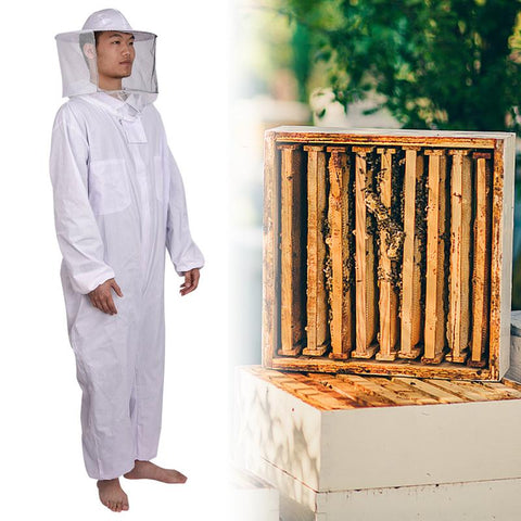 White Anti-Bee Coat Multi-functional Special Protective Clothing Anti-bee Use Beekeeping Tools For Beekeepers