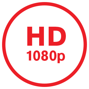 1080p HD Crystal<br>clear recording