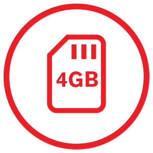 4GB Memory card included