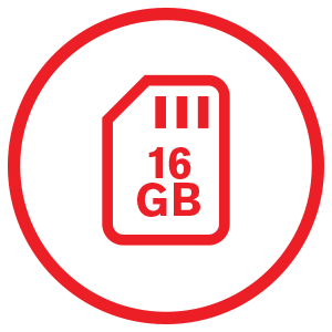 16GB Memory Card Included