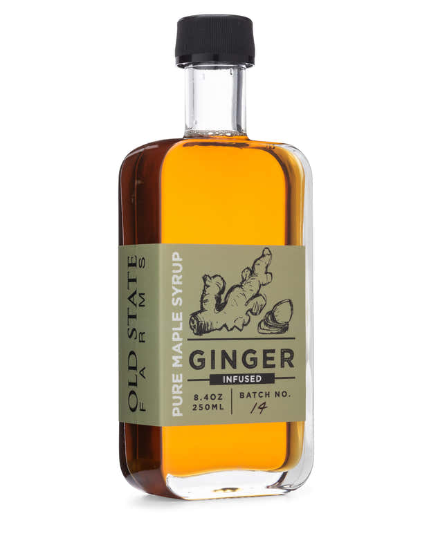 Ginger Root Infused Pure Maple Syrup 1