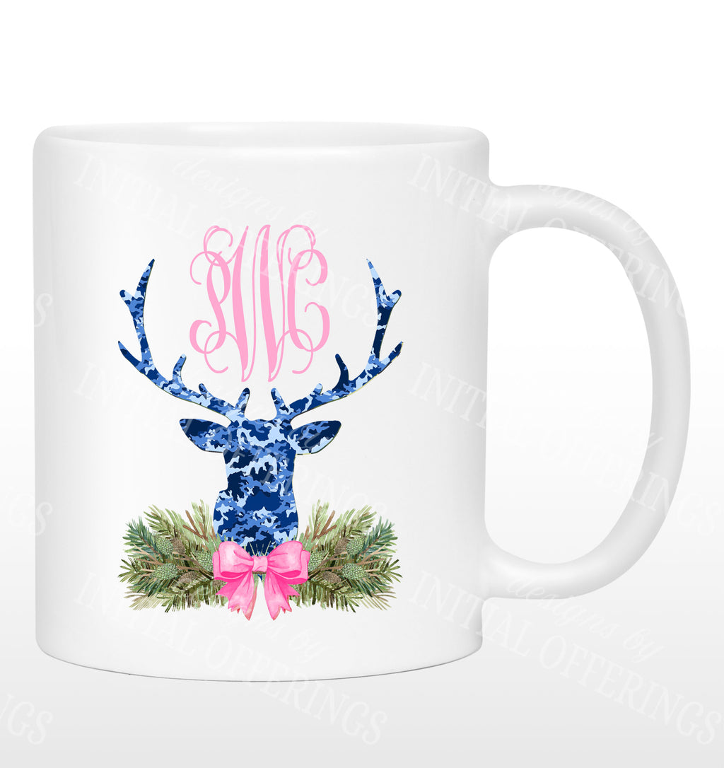 Blue Camo Stag Head Swag Mug