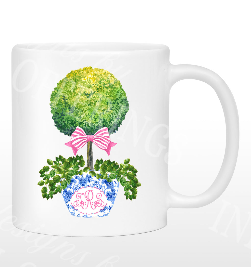 Topiary with Pink Bow Mug