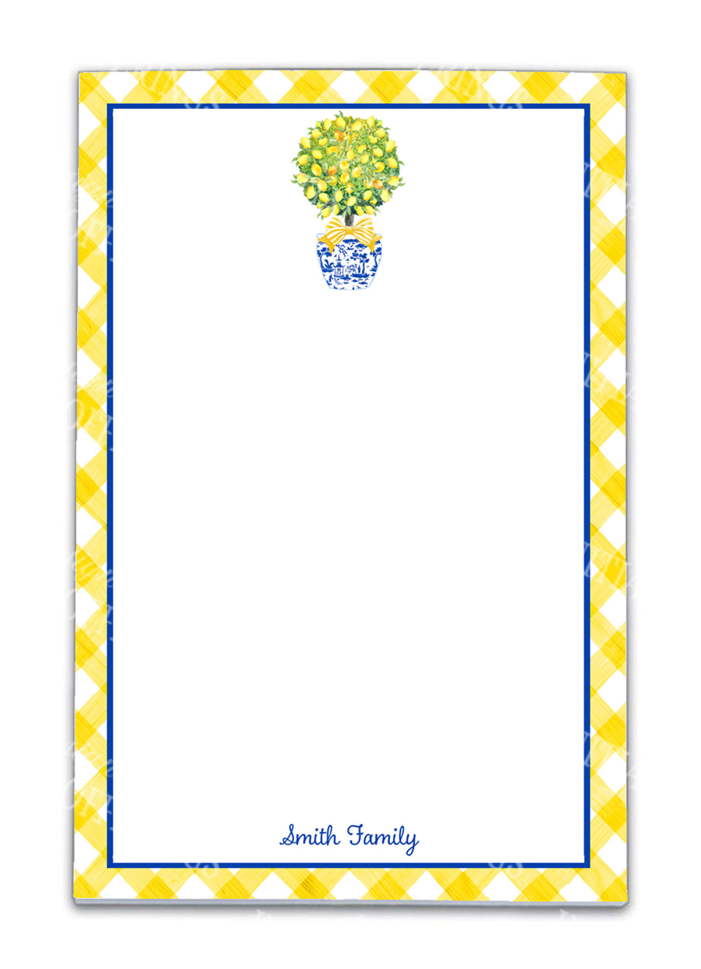 Topiary with Lemons Notepad