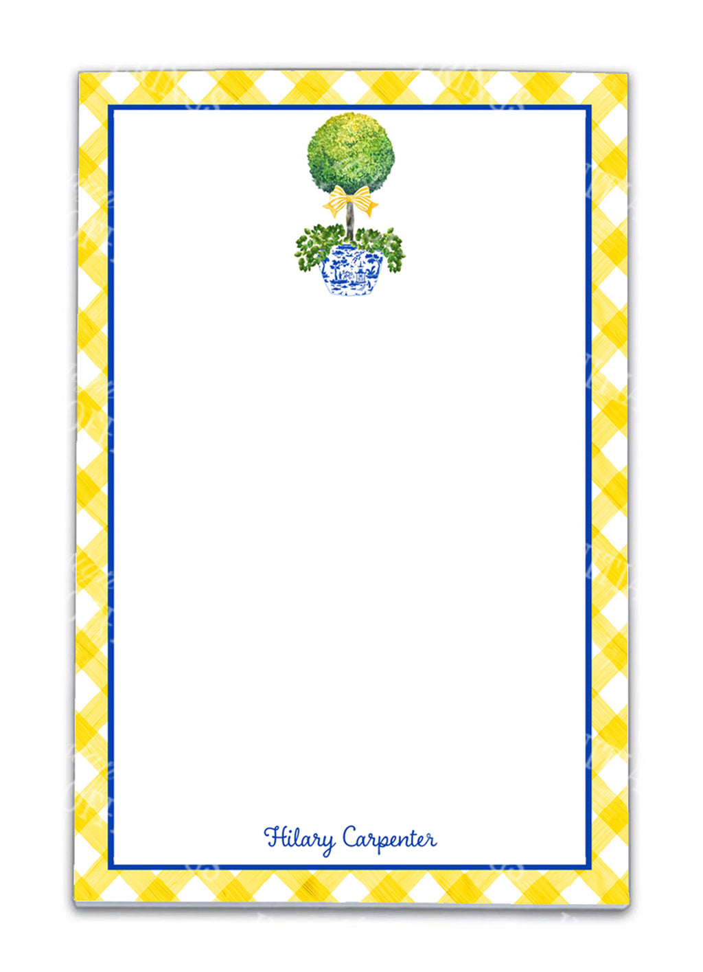 Topiary with Yellow Bow Notepad