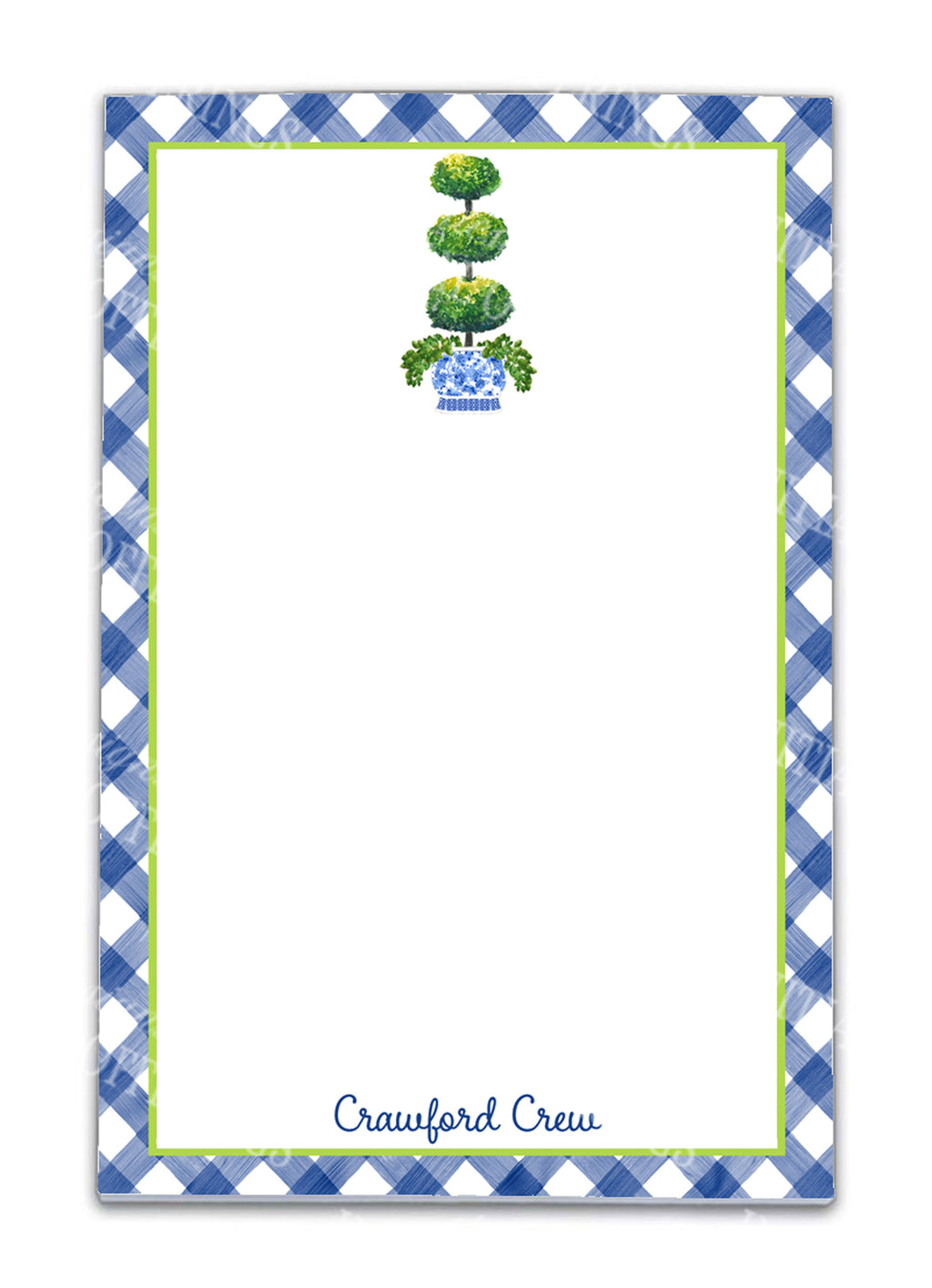 Triple Topiary Notepad