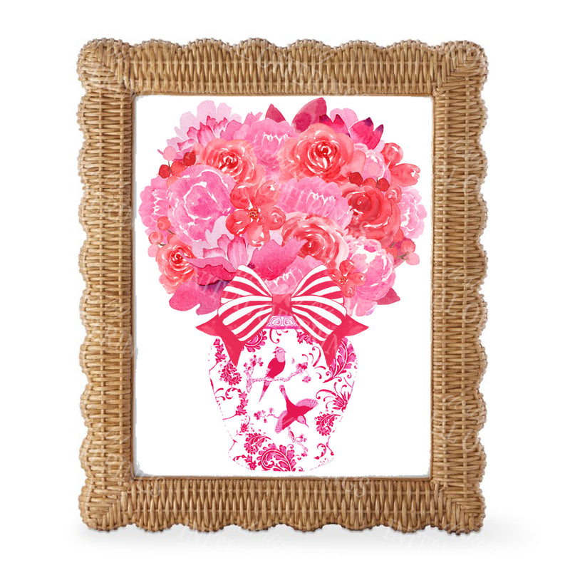 Pink and Red Bouquet Wall Art