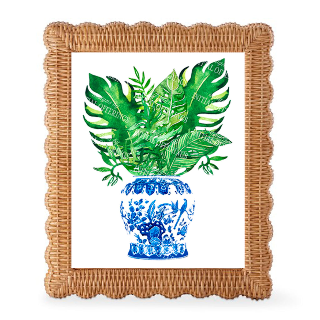 Ginger Jar with Palms Wall Art