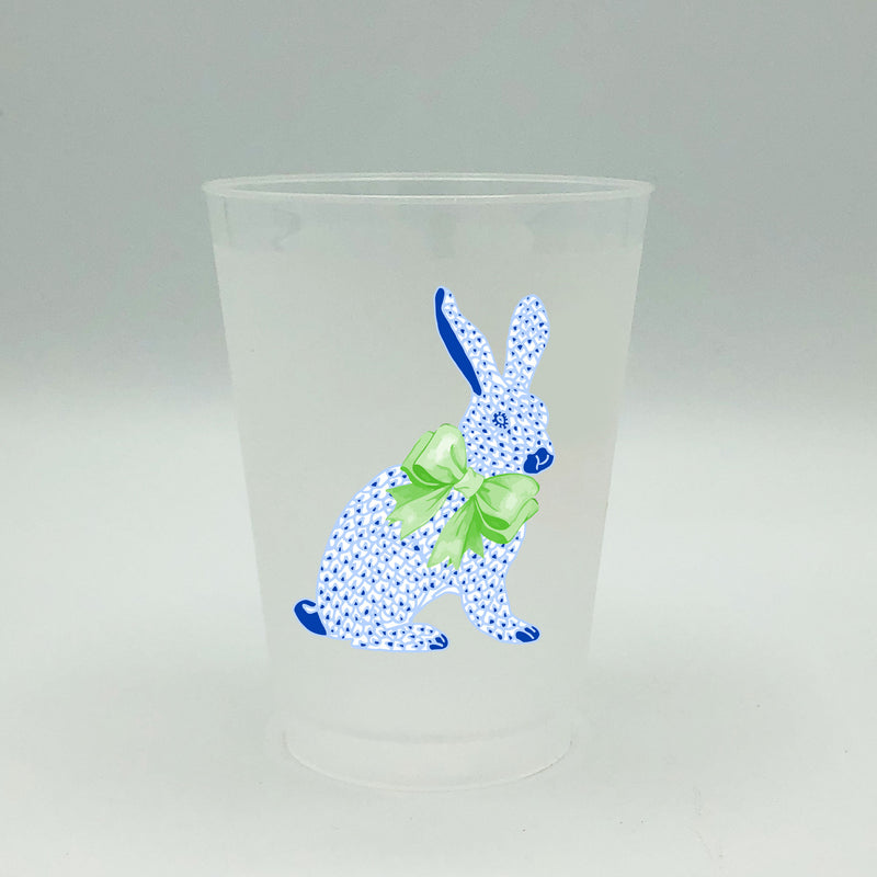 Blue Bunny Full Color Shatterproof Frost Cups - Personalized