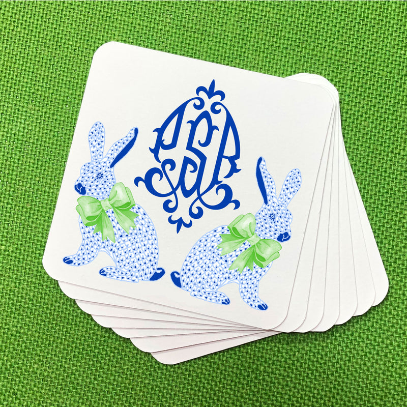 Blue Bunnies Coasters