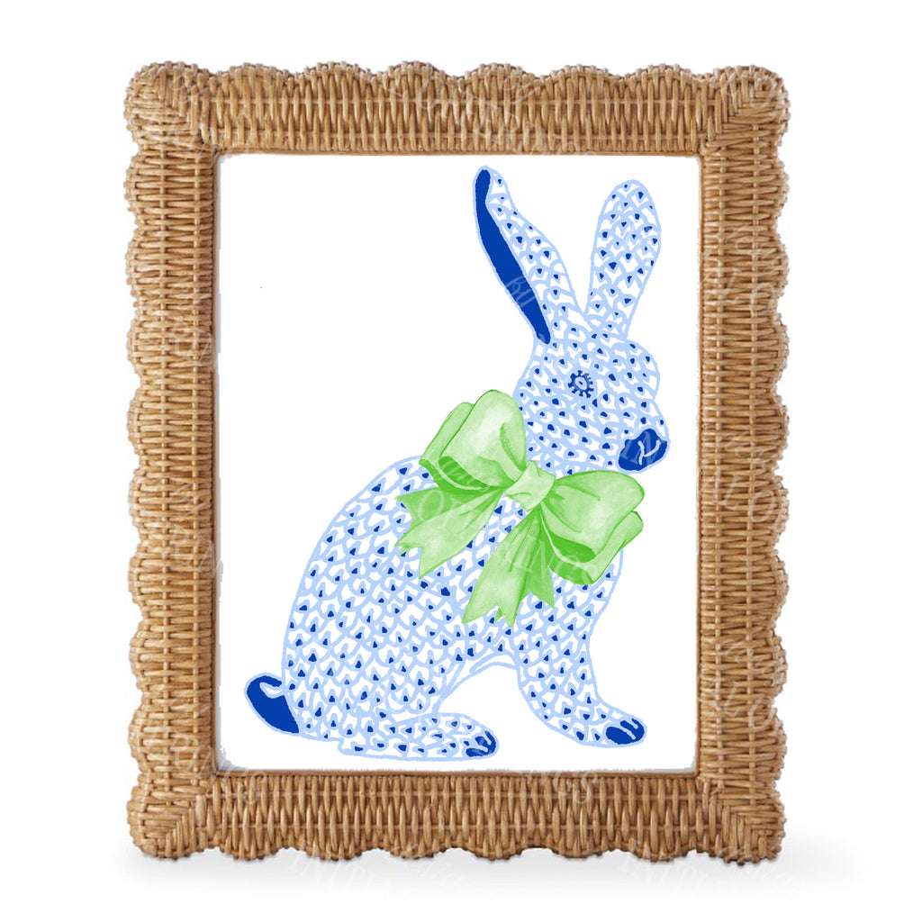 Blue Bunny Wall Art