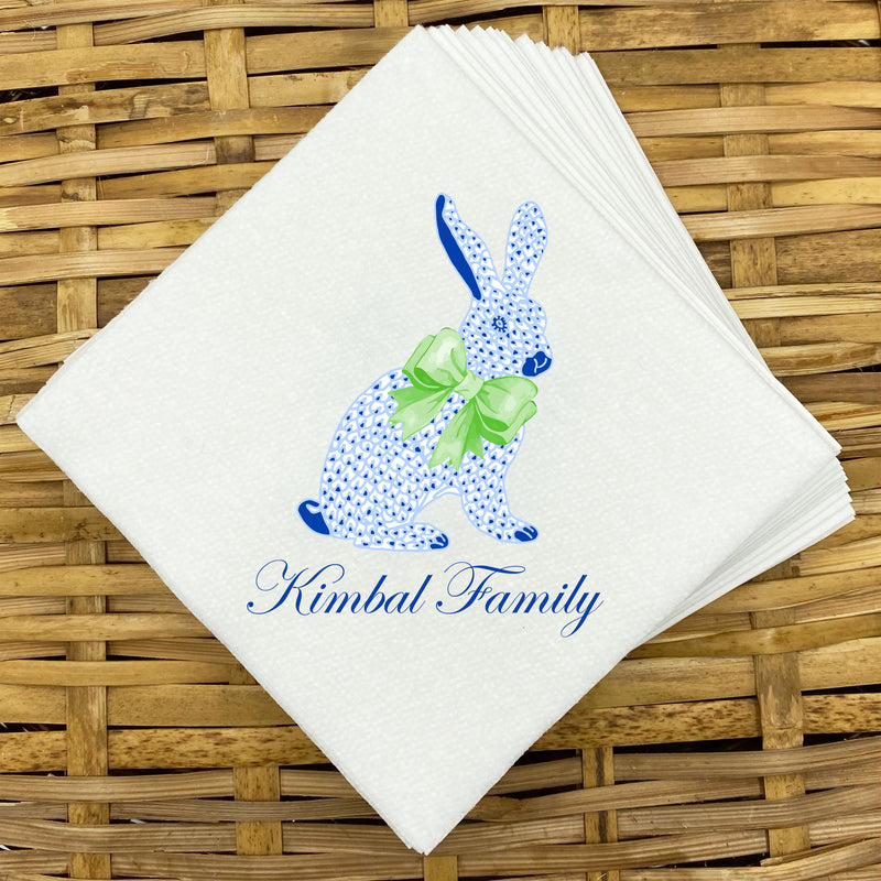 Blue Bunny Napkins and Guest Towels