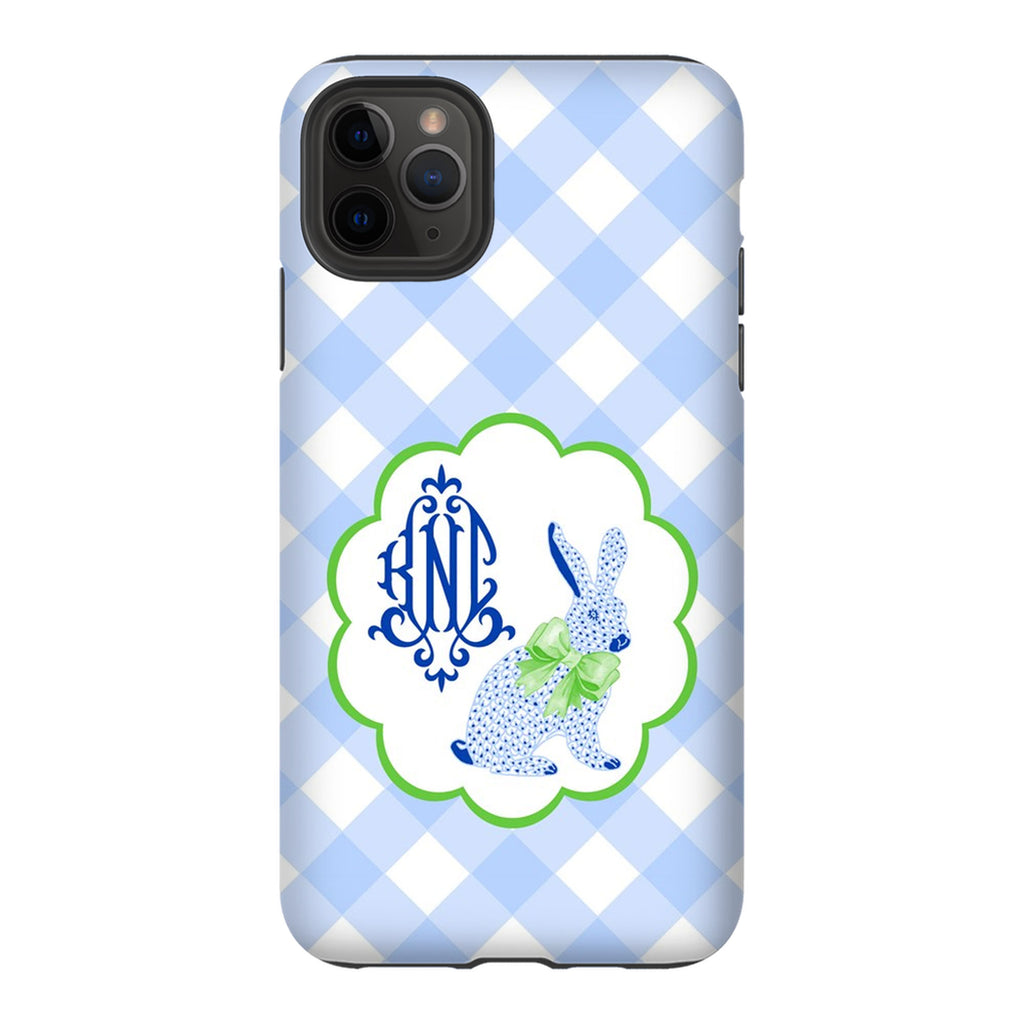 Blue Bunny Glossy Tough Phone Case | iPhone | Samsung | Galaxy | LGG | Google Pixel