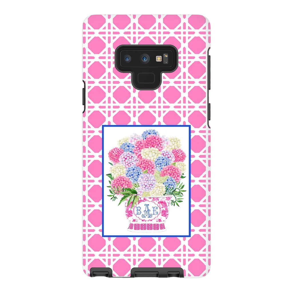 Bouquet Pink Blue Hydrangeas Glossy Tough Phone Case | iPhone | Samsung | Galaxy | LGG | Google Pixel