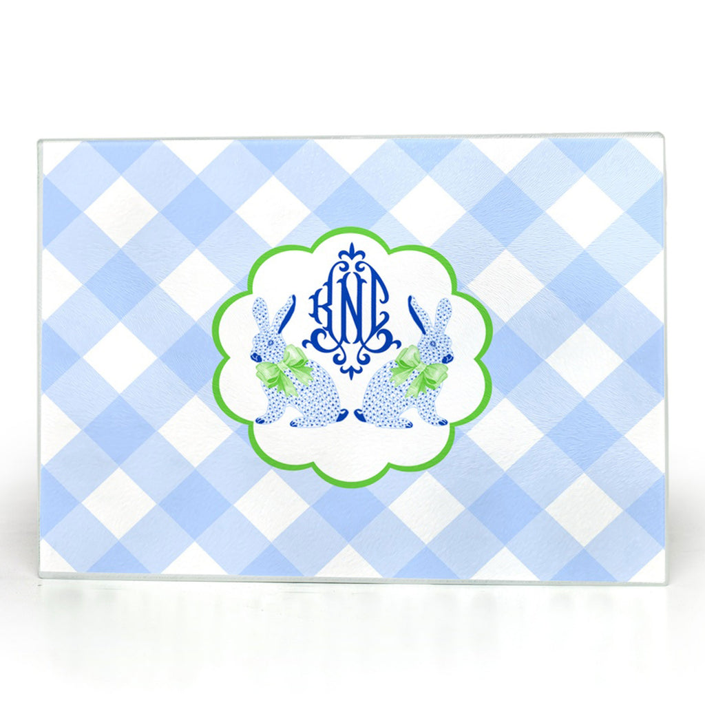 Blue Bunnies Cutting Board