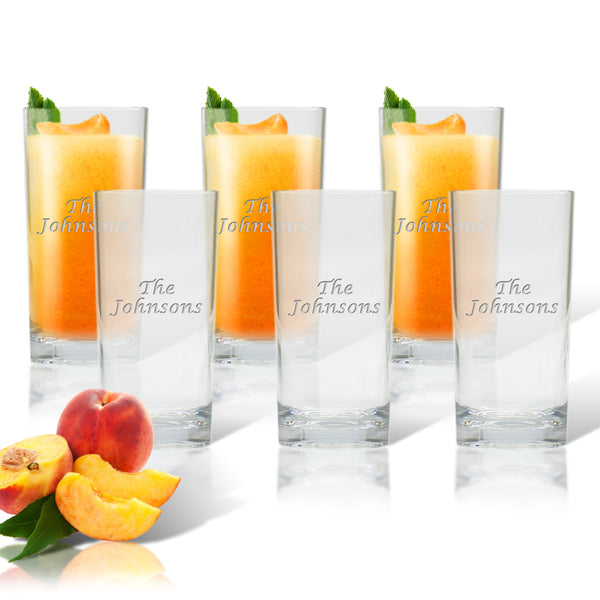 Drinkware Set of 6 High Ball Glasses