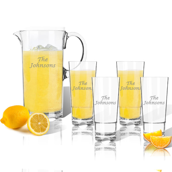 Drinkware Tritan Unbreakable Entertaining Set - Pitcher & 4 Highball Glasses