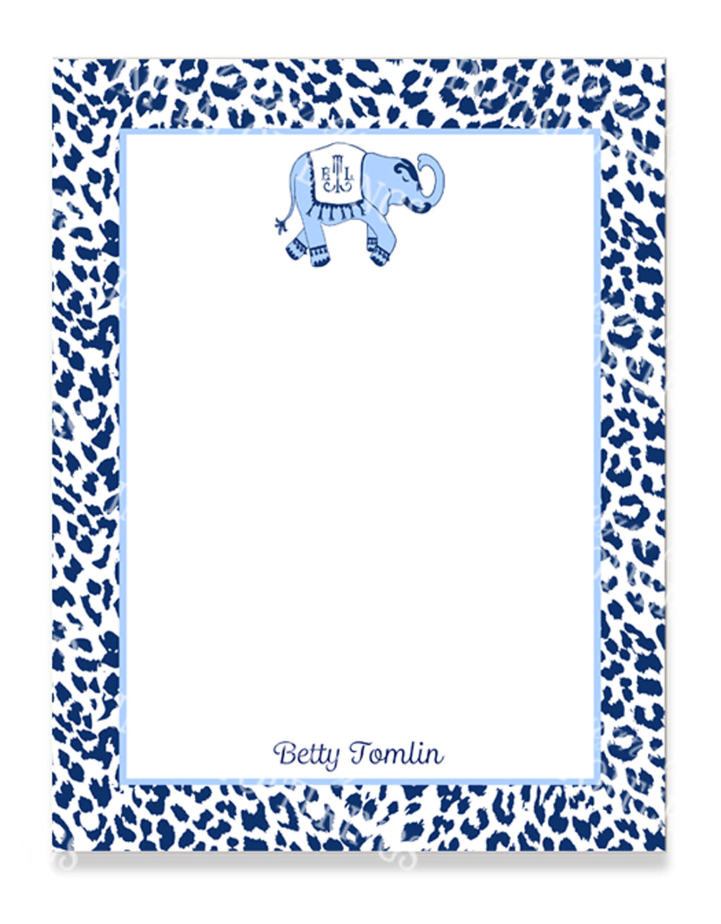 Ellie in Cornflower Blue and Navy Notepad