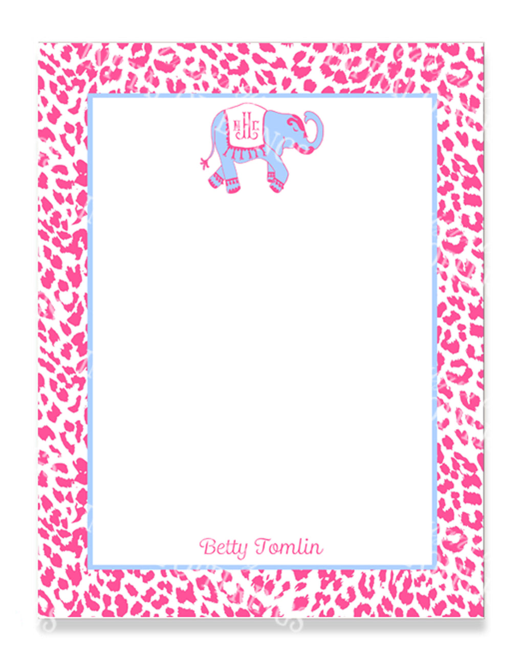 Ellie in Cornflower Blue and Pink Notepad