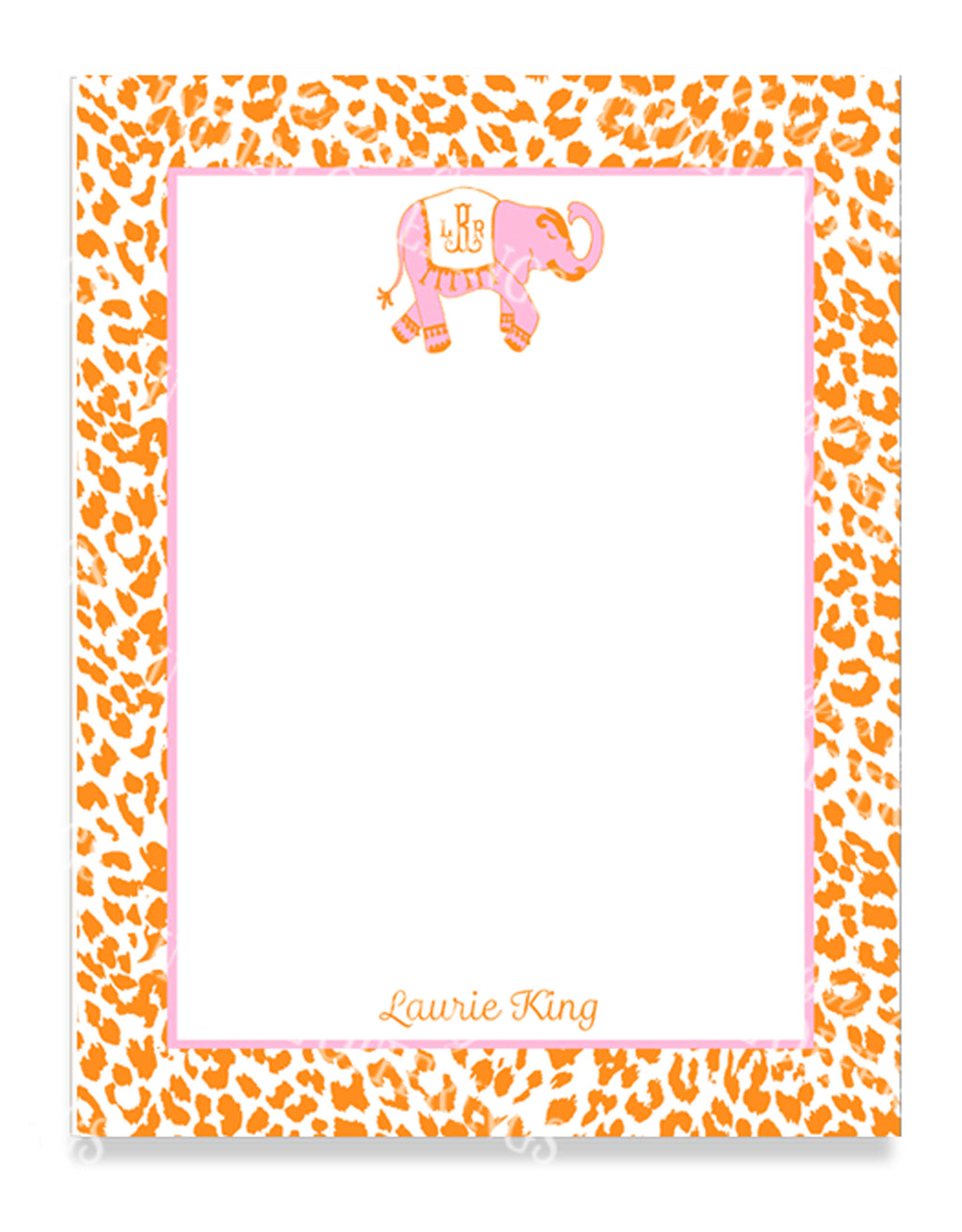 Ellie in Pink and Orange Notepad